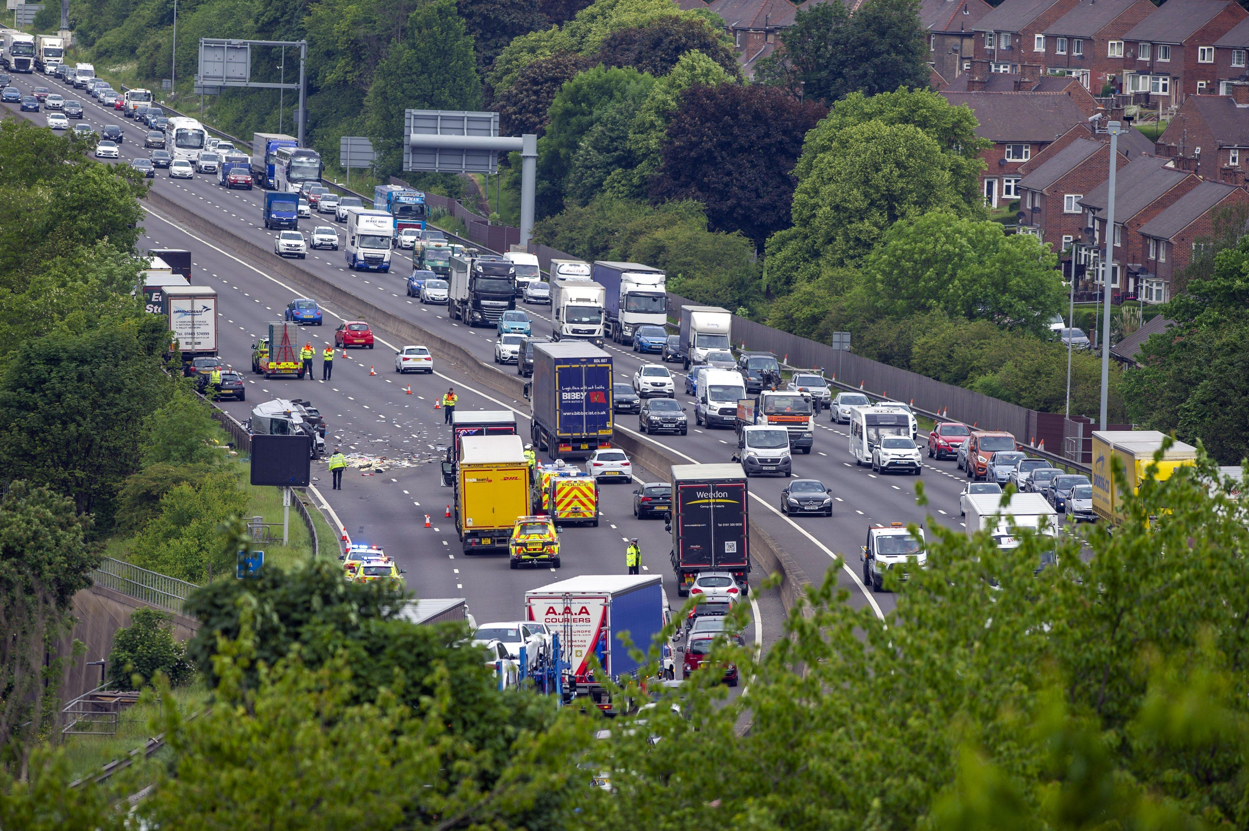 Two men dead after crash as M1 remains closed near Meadowhall | The Star