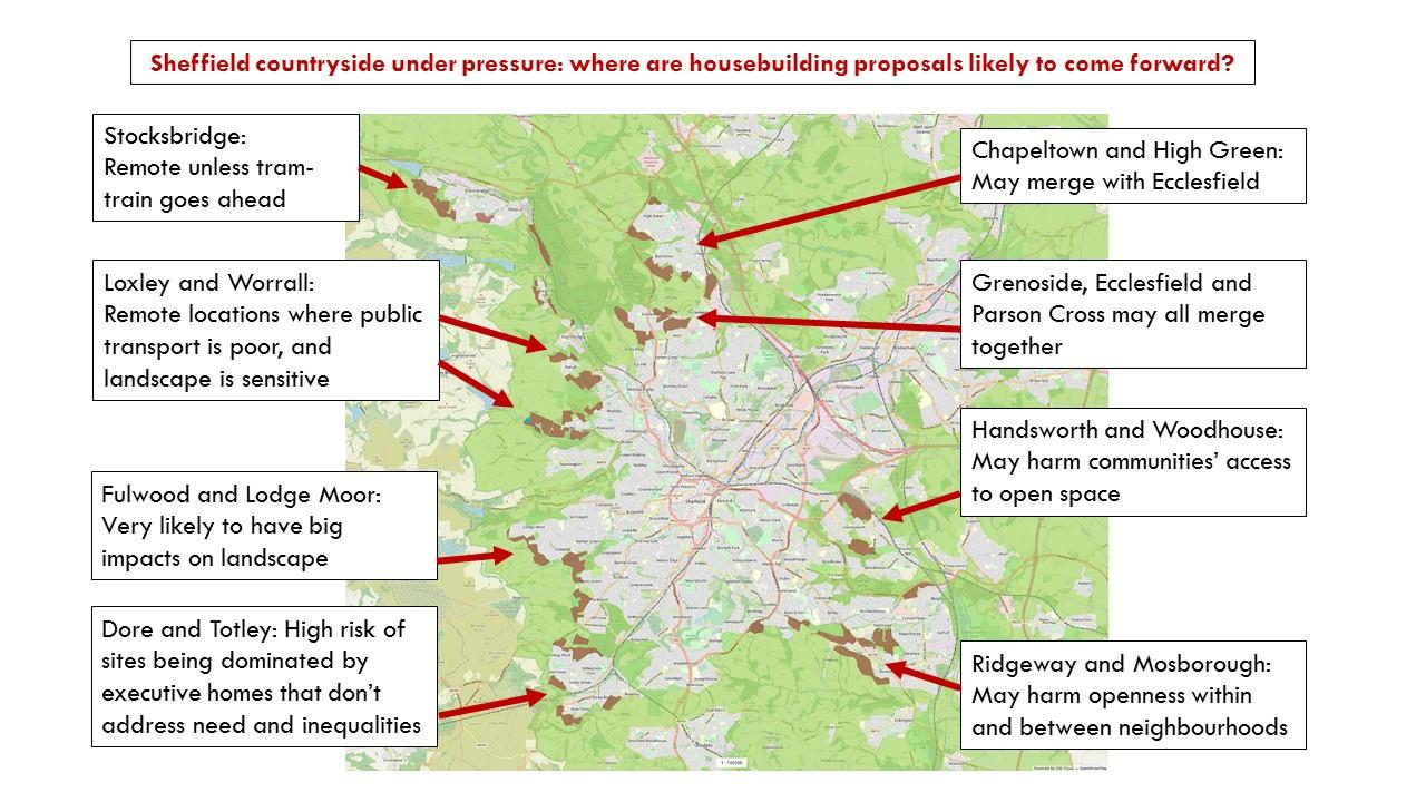 Campaigners release map of green areas under threat in ...