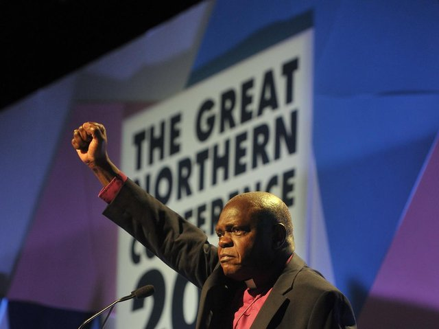 Former Archbishop of York speaking at the inaugural Great Northern Conference.  Pic by Tony Johnson.