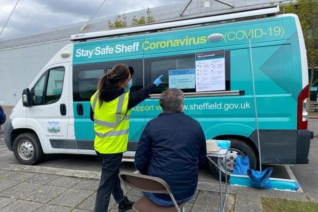 Sheffield's new Community Covid Bus