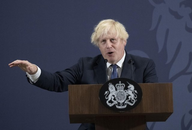 """Prime Minister Boris Johnson speaking during a visit to the UK Battery Industrialisation Centre in Coventry where he insisted his levelling up agenda is """"win win"""" and will not be a case of """"robbing Peter to pay Paul"""" as tries to keep traditional Tories in the South on side. Picture date: Thursday July 15, 2021. PA Photo. See PA story POLITICS LevelUp. Photo credit should read: David Rose/Daily Telegraph/PA Wire"""
