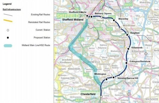 Work is under way to open the Barrow Hill line between Chesterfield and Sheffield, including new stations at Barrow Hill, Renishaw and Killamarsh.