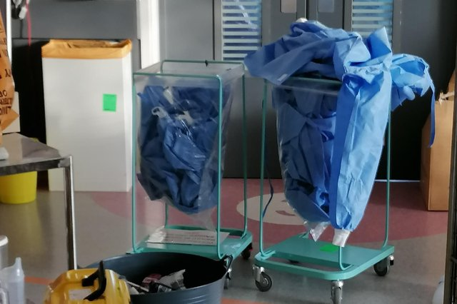 Protective gowns are allegedly being reused at the Royal Hallamshire Hospital in Sheffield.
