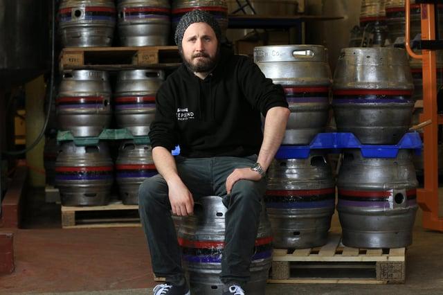 Head Brewer Gavin Martin. Picture: Chris Etchells