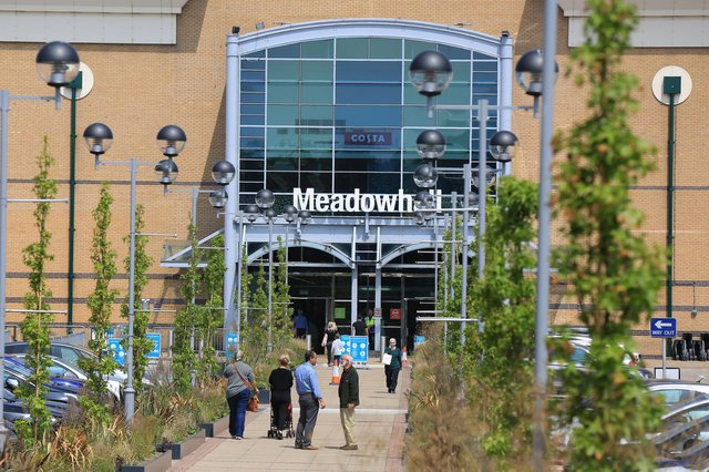 Meadowhall, where a man was arrested on suspicion of assaulting an emergency service worker