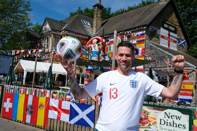 General Manger Adam Chamberlain gets ready to welcome fellow football fans to the pub in Woodseats