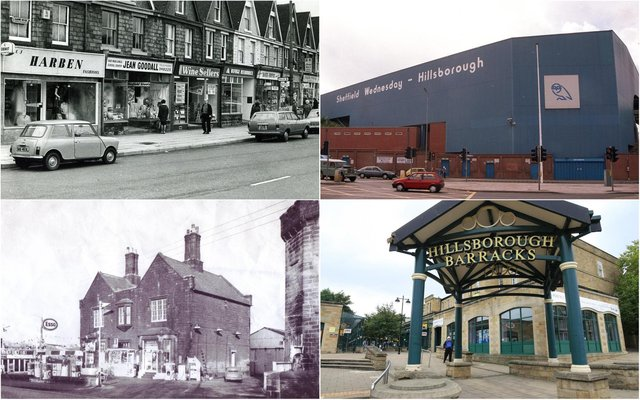Images of Hillsborough then and now, from the famous Sheffield Wednesday stadium to historic Barracks shopping centre