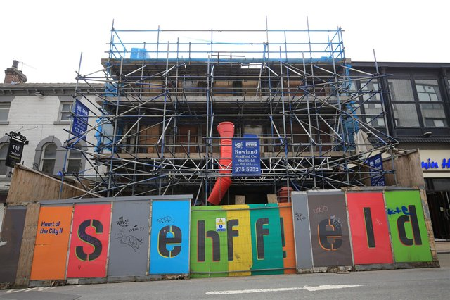 Leah's Yard has been restored and no longer needs scaffolding to hold it up. Picture: Chris Etchells