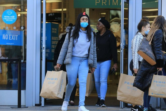Hundreds of customers queue outside Primark since morning