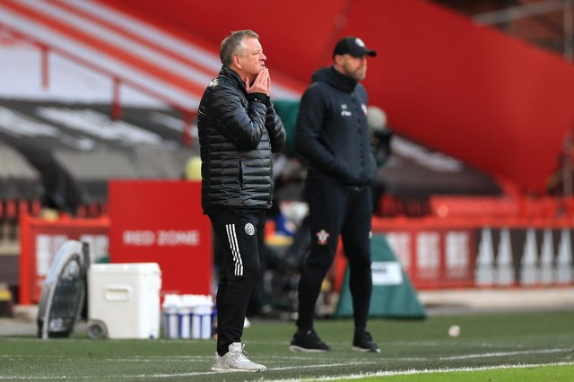 Chris Wilder, manager of Sheffield United (L) and Ralph Hasenhuttl, his counyerpart from Southampton: Mike Egerton - Pool/Getty Images