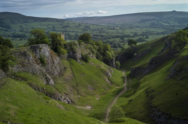 A view from Cave Dale across the Peak District with Peveril Castle to the left. Picture by Dan Kitwood/Getty Images