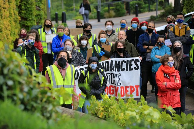 A rally to save the archaeology department at the University of Sheffield. Picture: Chris Etchells