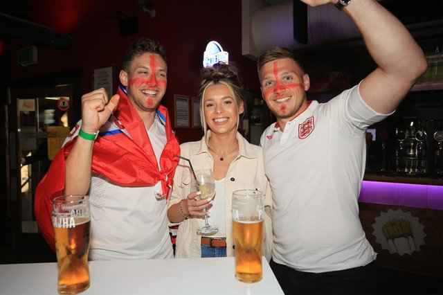 England v Italy in the Euro 2021 final. Pre-mtch build up as fans get ready to watch the final in The Common Room. Picture: Chris Etchells