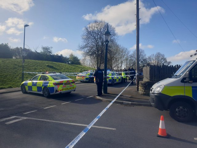 A police cordon remains in place as of Sunday morning