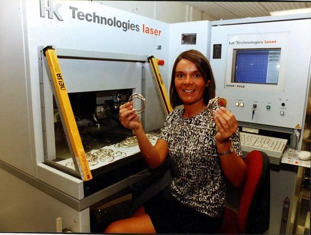 Hallmarking machine at Sheffield Assay Office, 1998 (Picture Sheffield ref no U00011)