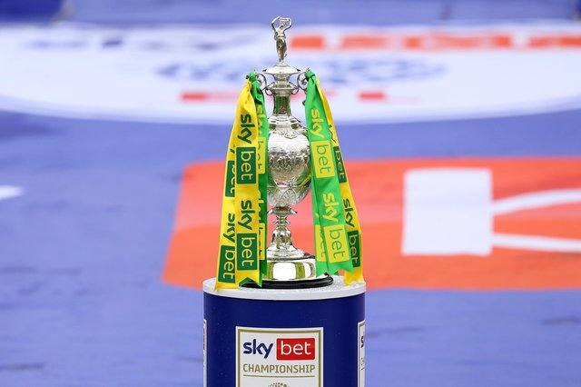 A general view of the Sky Bet Championship trophy  (Photo by George Wood/Getty Images)