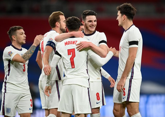Will it still be all smiles for England by the end of Euro 2020? (Photo by Michael Regan/Getty Images)