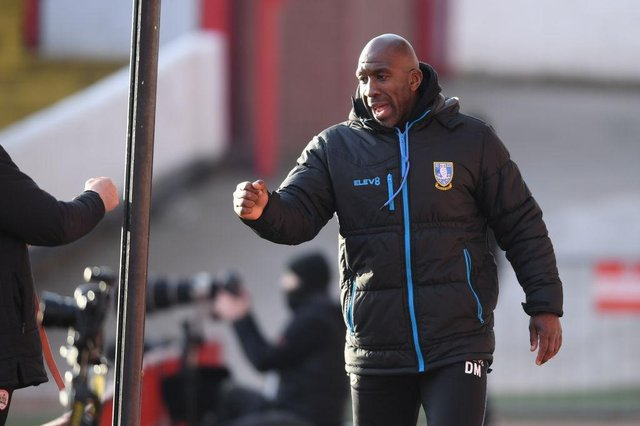 Darren Moore, Manager of Sheffield Wednesday. (Photo by Ross Kinnaird/Getty Images)