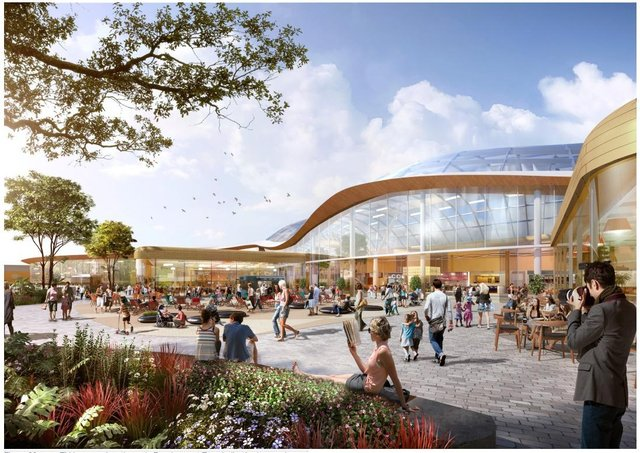 Artists' impression of the proposed expansion at Meadowhall.