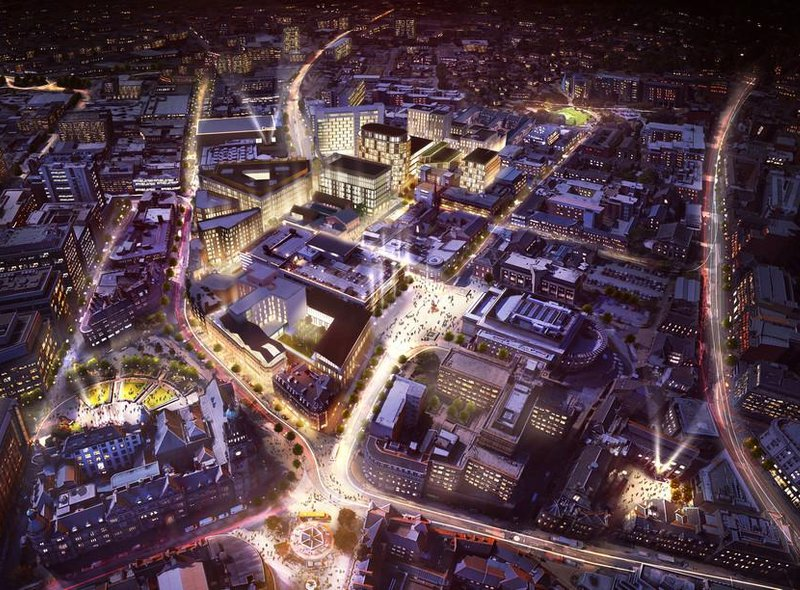 An artist's impression of the Heart of the City II development