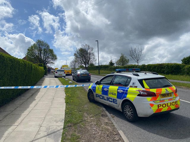 A police cordon is in place on the Manor estate in Sheffield following a shooting (Photo: Dan Hayes)