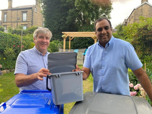 Councillors Tim Huggan and Shaffaq Mohammed want to see doorstep food waste collections.