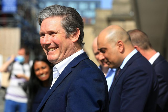Labour leader Keir Starmer visited Sheffield, ahead of May's local elections. He visited local businesses and discuss the work being done by the council to tackle the pandemic and rebuild post covid, including work to regenerate the city centre around the Heart of the City development. Picture: Chris Etchells