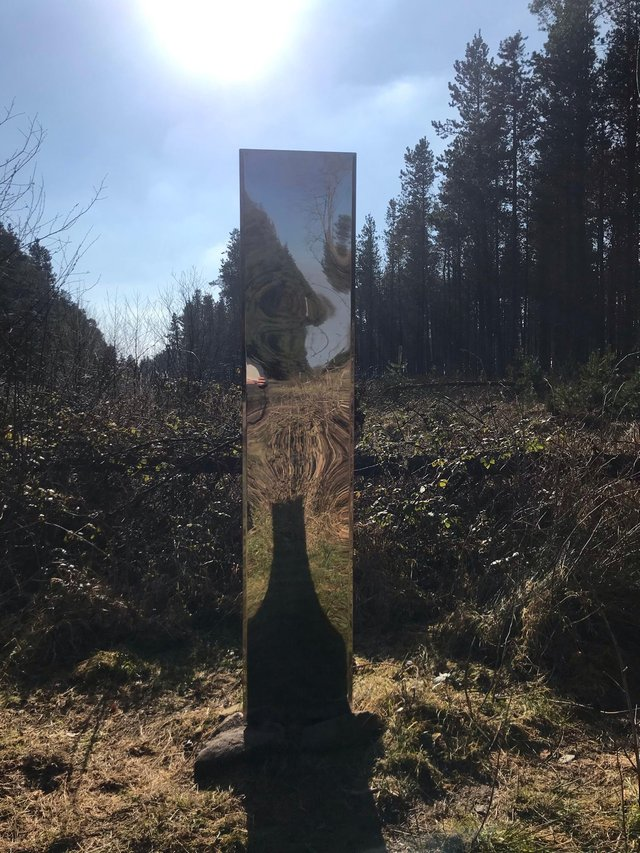 A mysterious metal monolith has appeared at Lady Canning's Plantation. Picture: Jonathan Skull
