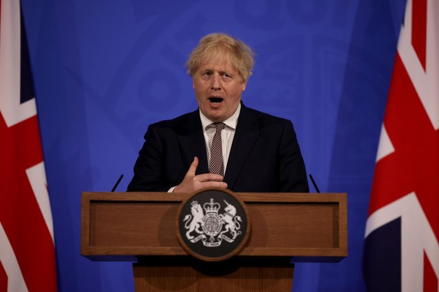 Prime Minister Boris Johnson during a media briefing in Downing Street, London, on coronavirus (COVID-19). PA Photo. Picture date: Wednesday May 20, 2020. See PA story HEALTH Coronavirus. Photo credit should read: Dan Kitwood/PA Wire