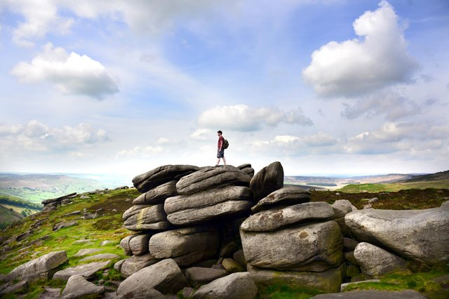 Who can you spot in these Stanage Edge pictures?