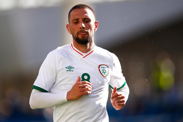 Republic of Ireland international Conor Hourihane could be on the move this summer with reports suggesting that Sheffield United and West Brom are keen on the Aston Villa midfielder. (Photo by Eric Alonso/Getty Images)