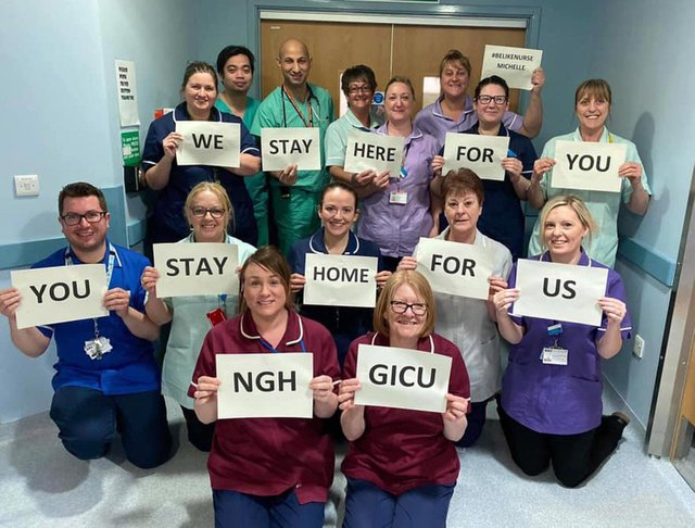 The intensive care team at the Northern General.