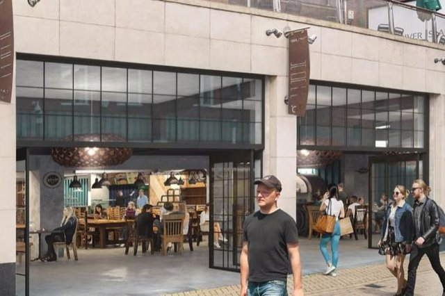 An artist's impression of what the new Sheffield Plate food hall at Orchard Square will look like