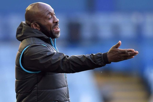 Darren Moore has a busy few months ahead of him at Sheffield Wednesday    Pic Steve Ellis