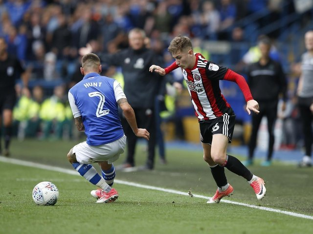 David Brooks bamboozles Sheffield Wednesday's Jack Hunt during the Sheffield derby at Hillsborough.