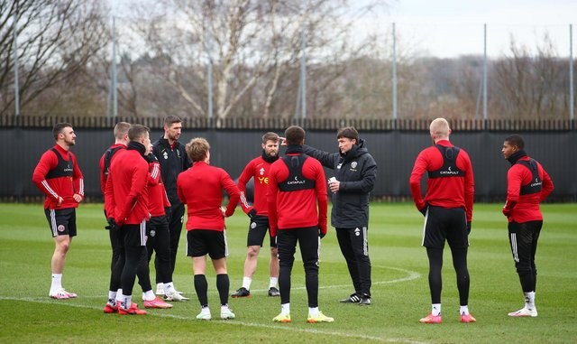 Paul Heckingbottom has addressed Sheffield United's squad following their relegation from the Premier League: Simon Bellis/Sportimage