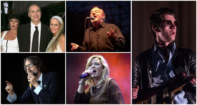 The Human League, Joe Cocker, Arctic Monkeys, Moloko and Pulp feature on the list. Pictures: Getty Images.
