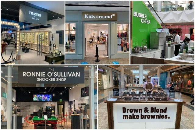 Pictured are the five new places that have opened in Meadowhall this week