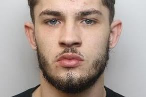 Pictured is Harrison Sargent, aged 21, of Dale Park, The Dale, Woodseats, Sheffield, who has been sentenced to five years and six months of custody after he admitted unlawful wounding, possessing cannabis with intent to supply, possessing a prohibited weapon and possessing criminal property, namely money.