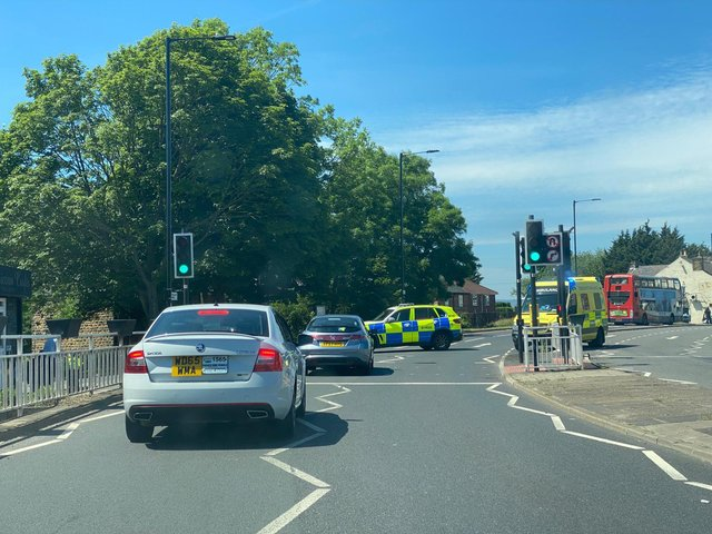 A car and lorry were involved in a collision in Handsworth earlier today