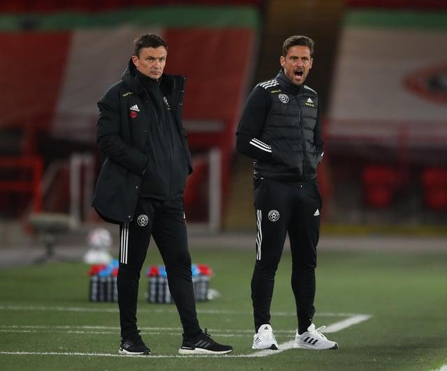 Paul Heckingbottom on the touchline with coach Jason Tindall: Simon Bellis / Sportimage