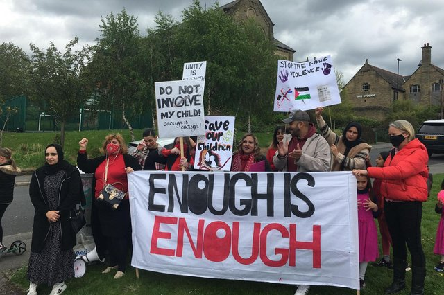 Mums United protest gang violence in Sheffield.