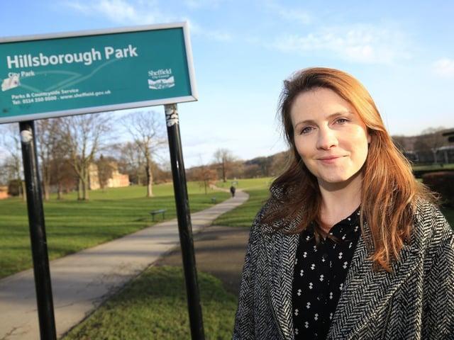 Tramlines director Sarah Nulty at Hillsborough Park. Picture: Chris Etchells.