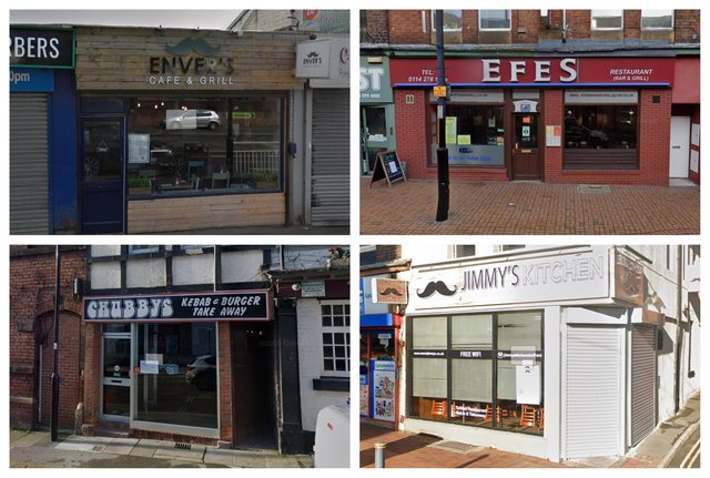 The four Sheffield kebab restaurants and takeaways vying for your vote in the semi-finals of the British Kebab Awards 2021 (pics: Google)