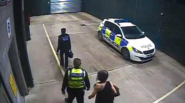 Carmen was taken to the police station in Sheffield. Photo: Channel 4