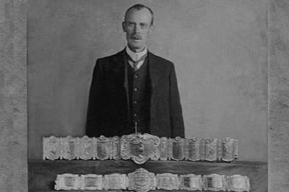 George Littlewood with his medals