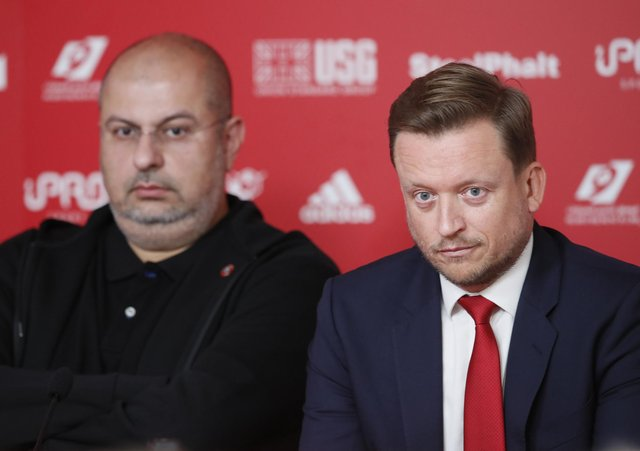 H.R.H Prince Abdullah bin Mosa'ad bin Abdulaziz Al Sa'ud listens as Chief Executive Stephen Bettis speaks at a press conference introducing the new owners of Sheffield United  at Bramall Lane: Simon Bellis/Sportimage