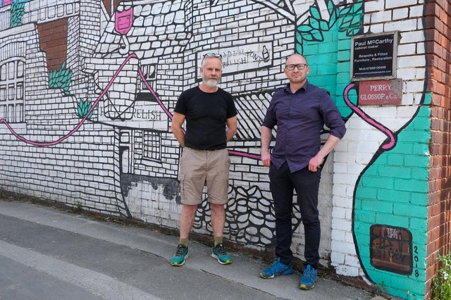 Cabinet maker Paul McCarthy, left, and silversmith Chris Perry may have to leave their respective workshops at Kelham Island to make way for a housing development.