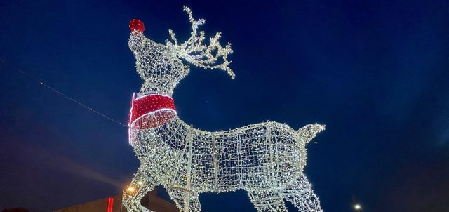 Christmas celebrations at Fox Valley shopping centre, Sheffield