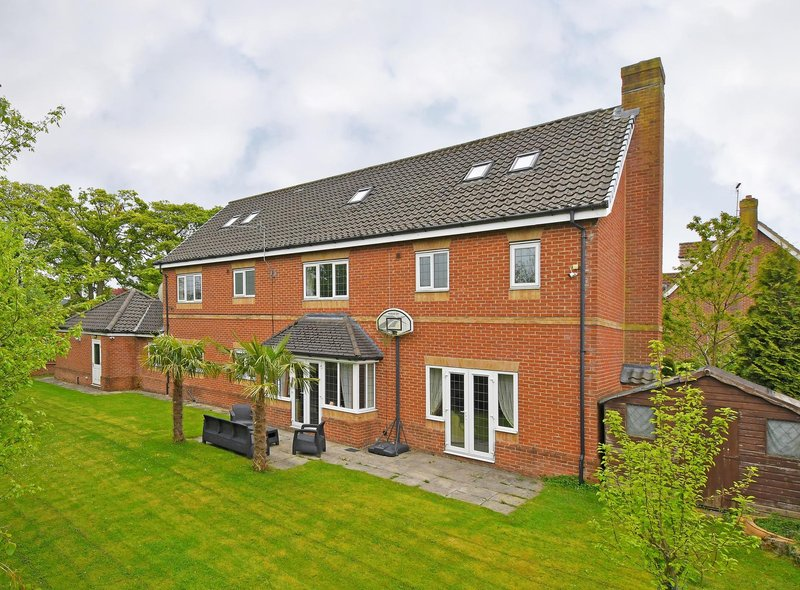 Described by the agent as substantial, the detached 7 bedroom Sheffield home is in the desirable location of Bents Green. It is on the market with Blenheim Park Estates for £1.2 million.